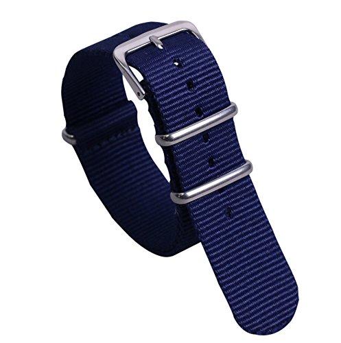 20 millimetri blu scuro premio multicolore stile unico robusto morbido nylon polso banda vigilanza del wristband maschile