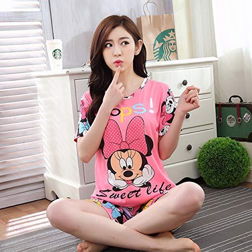 XUHRA pyjama voor de zomer, 3-delige set met linten voor milkspaghetti en lange broeken en pyjama's, nachtkleding
