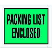 Partners Brand PPL404 Packing List Enclosed Envelopes Full Face 4 1/2 x 5 1/2 Green (Pack of 1000) [並行輸入品]
