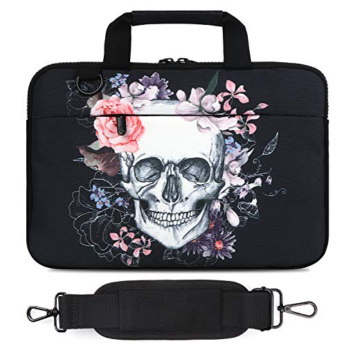 Laptop Shoulder Bag, Compatible with MacBook Air, MacBook Pro Ultrabook Chromebook (12'-13.3', Skull)