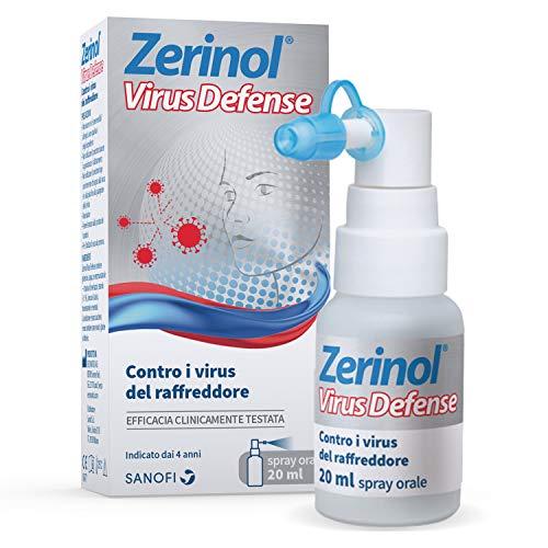 Zerinol Virus Defense, Tripla Azione Contro i Virus del Raffreddore, Intrappola, Disattiva e Protegge