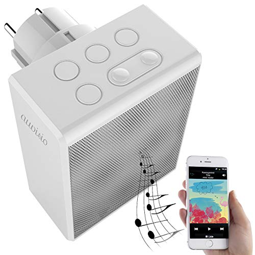 auvisio Badezimmerradio: UKW-Steckdosenradio und Freisprecher, Bluetooth 5, 30 Senderspeicher (Steckerradio)