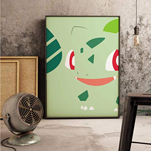 PCCASEWIND Noframe Painting 50X70Cm,Cartoon Anime Pikachu Wall Artist Home Decoration Canvas Painting Art Living Room Kids Poster -Hd1592