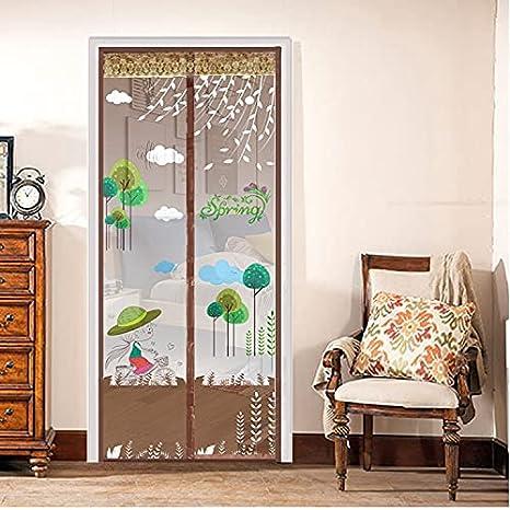 Puerta de pantalla magnética Moderna, simple y fresca versión coreana de la cortina de la puerta de la pantalla de la pantalla de mosquitos de verano cifrado de la puerta de la pantalla magnética cifr