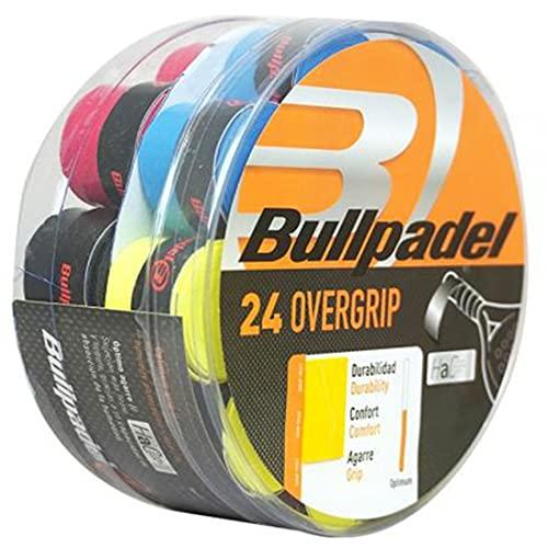 Overgrip Liso Bullpadel Multicolor/Tambor 24 overgrips para Mejorar Grip de tu Pala de Padel y Raqueta/Grip...