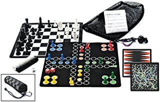 Outside Inside Backpack Board Games, Compact, Foldable, Magnetic, Travel Size for Camping and Travel