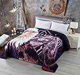 Lightweight Quilted Bedspread King Size 90x102 inches, All Over Motorcycle Eagle Printed Men Bed Quilt,Soft Breathable Comforter Bedding Thin Breathable Blanket for Spring and Summer (Motor,King)