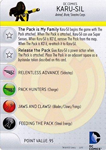 WizKids Heroclix DC War of Light #037 Karu-SIL Figure Complete with Character Card