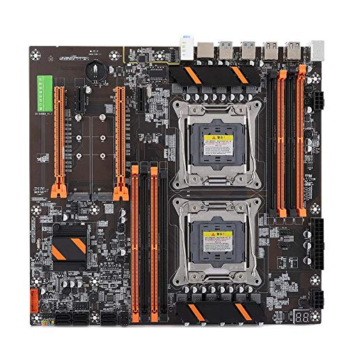 Placa base de servidor dual X99, trasera 4 Tarjeta de red USB3.0 Gigabit 8 Ranura de memoria Soporte de placa base 4-Gen 8 * DDR4 DIMM...