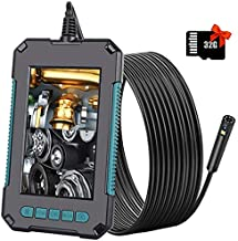 funwill Industrial Endoscope with 32G TF Card Waterproof Borescope Inspection Camera 4.3in LCD Screen 1080P Sewer Borescope Inspection Camera with 9 LED Lights 2600mAh Battery Snake Camera /16.5FT