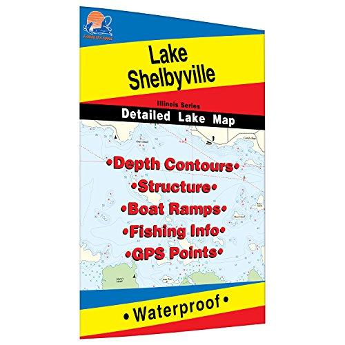 Shelbyville Fishing Map, Lake