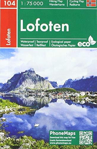 Lofoten, Wander - Radkarte 1 : 75 000 (PhoneMaps Wander - Radkarte Norwegen)