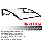 ADVANING 55'X31' Polycarbonate Door Awning | PN Series | PREMIUM Quality, 100%...