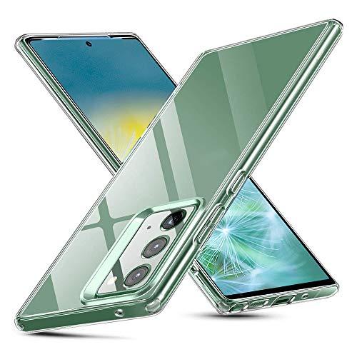 Whew Samsung Galaxy Note 20 Hülle, HD Transparent Anti-Gelb Hard PC Back & Soft Silikon Hybrid Handyhülle, Kratzfest Durchsichtige Schutzhülle Ultradünn Case für Samsung Galaxy Note 20