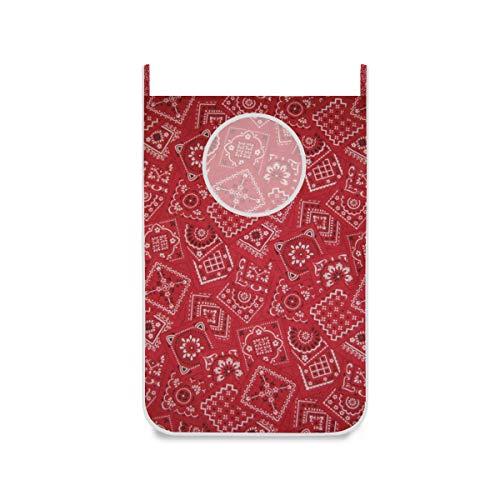 XiangHeFu wasmand deurbehang vouwbare stoffen tas rode bandana opvouwbare grote mand