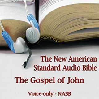 The Gospel of John: The Voice Only New American Standard Bible (NASB) audiobook cover art