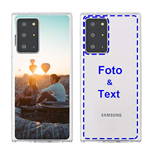 MXCUSTOM Personalisierte Handyhülle für Samsung Galaxy Note 20 Ultra 5G, Benutzerdefiniert Hülle mit Eigenem Foto Bild Text Persönliche Schutzhülle [Weicher Stoßfänger + Harter Rückseite] (CHT-CR-P1)