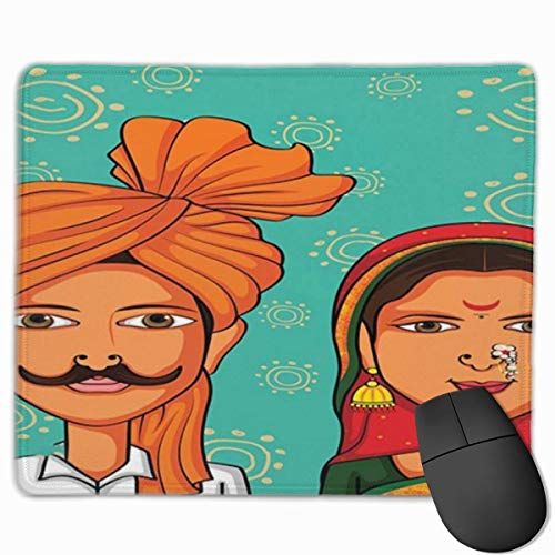 muismat, muismat, muismat, muismat, bruidsjurk en bruidegom in de Maharashtra-regio, kleurrijk motievenpatroon