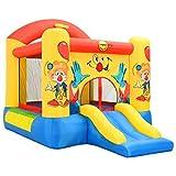 Festnight castillo hinchable con tobogán happy hop 330x230x230 cm pvc multicolor