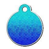 SeCag Gradual Azul báscula Mascota ID Etiquetas Etiqueta Perro Gato aleación...