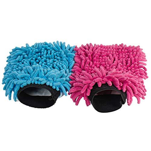 Mikrofaser Handschuh | Waschhandschuh Auto Mikro | Ideal als Autoschwamm lackschonend und Staubbürste | Alternative zur Felgenbürste Microfaser