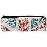 Tizorax - Estuche con diseño de la bandera británica con textura grunge para lápices, bolígrafos, con cremallera, organizador de monedas, maquillaje, para mujeres, adolescentes, niñas, niños y niños