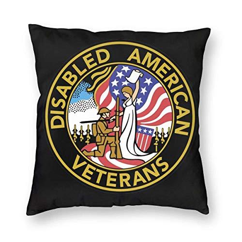 LAKILAN Disabled American Veterans Capítulo 6 Organización Estados Unidos Funda de Almohada (código múltiple) Juego de Almohadas Fundas de Almohada del hogar para Funda de cojín de 45 * 45 CM