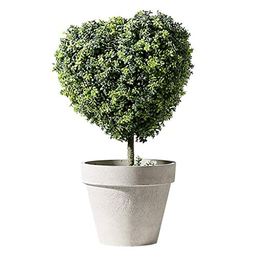 Artificial Plants Small Realistic Artificial Topiary Trees PVC Faux Tabletop Plants with Gray Pots Artificial Flora (Color : A)