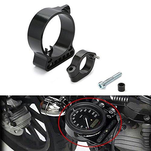 Triclicks Aluminium 39mm Motorrad CNC Billet Speedo Verlagerung Halterung für Harley Sportster XL 883 1200 C N L R 48
