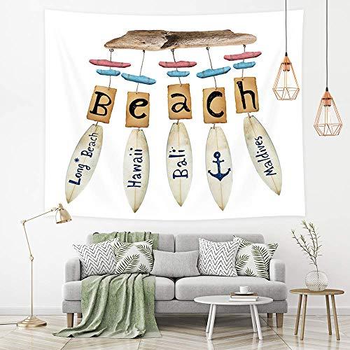 Dream Catcher Tapestry, Beach Theme Colgante de tabla de surf linda con Hawaii Bali Anchor Wall Tapestries Nursery