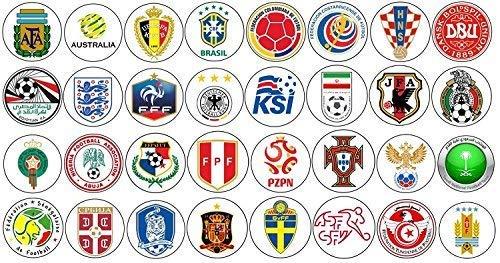 SPQR World Cup 2018 - Teamcollecties - Badges, sleutelhangers, flesopeners en magneten Keyring (58mm) Emblems Collection (32x Items)