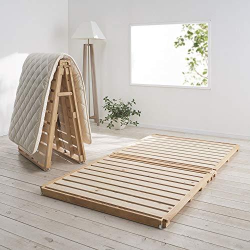 ディノス『ぴったり並べられる折りたたみひのきすのこベッド(900-7590-07)』