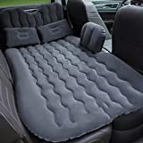 Car Air Mattress SUV Car Inflatable Air Bed, Air Mattress Rear Seat Sleeping Travel Bed with Air Pump and Two Pillow,for Camping Outdoor Activities, (Color : Black)