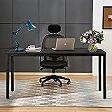 sogesfurniture Escritorios Mesa de Ordenador 160x60cm Grande Escritorios para Computadora Escritorio de Oficina Mesa de Estudio Mesa de Trabajo de Madera y Acero, Negro BHEU-AC3CB-160