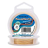 BENECREAT 22-Gauge Light Gold Copper Wire Tarnish Resistant Wire, 66-Feet/22-Yard, for Jewelry Craft Making