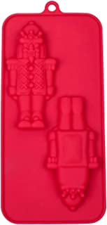 Christmas Nutcracker 3D Front And Back Silicone Mold Baking Chocolate Candy Making Molds