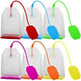 6 Pack Silicone Tea Infuser, FineGood Reusable Safe Loose Leaf Tea Bags Strainer Filter wi...