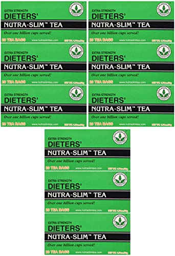 Extra Strength Dieters' Nutra-Slim Tea Triple Leaves Brand - 20 Tea Bags