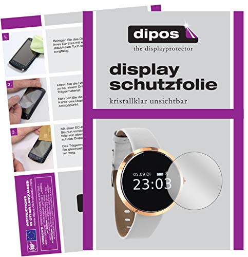 dipos I 6X Schutzfolie klar kompatibel mit X-Watch SIONA Smartwatch Folie Displayschutzfolie