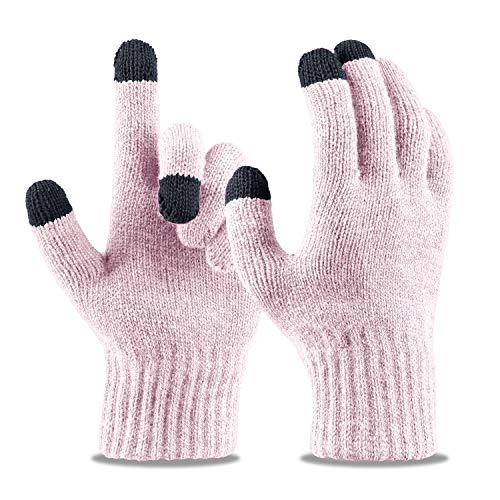 LIZEY Touchscreen Stretch Gloves Warm Texting Mitten Gloves for Women Teens