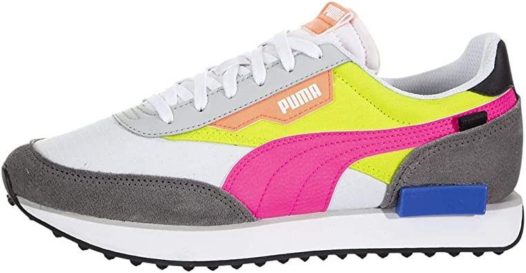 PUMA Womens Future Rider Play On Lace Up Sneakers Shoes Casual - Grey