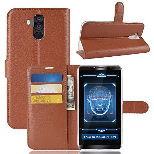 SHIEID Hülle für Oukitel K6 Hülle Brieftasche Hülle Kunstleder Handyfall Geeignet für Oukitel K6(Braun)