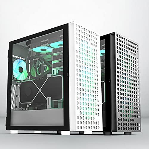 Caja de la computadora Caja de la computadora de Escritorio Caja de Juego ATX/MATX/ITX de Media Torre a Prueba de Polvo refrigerada por Agua Lateral