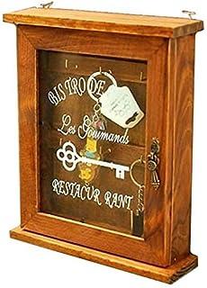 【アンティーク風 懐かしい雰囲気の キーボックス】  壁掛け 鍵 収納 インテリア 木製 おしゃれ雑貨