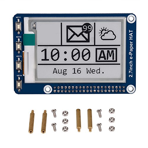Annadue 2.7in E-Ink Display HAT Module, 2-Color Display Board, E-Paper LCD Display HAT, for Rasp_berry Pi 2B 3B Z_ero Z_ero W, Tablet Component, PC DIY Sets