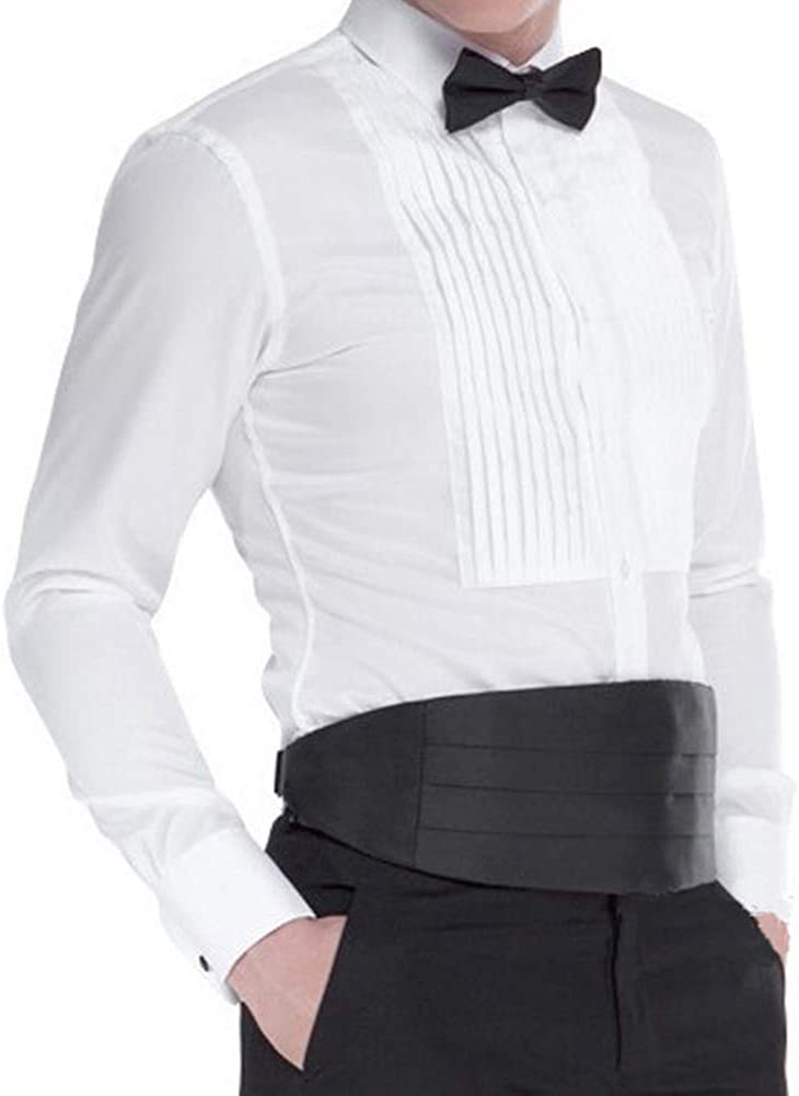 Panegy (Set/3 pcs Hombres Pajarita Pañuelo de Bolsillo Faja Cinturón para Traje Camisa Smoking Esmoquin