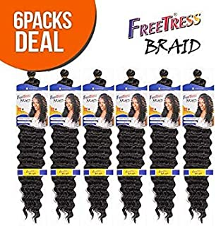 FreeTress Synthetic Hair Braids Deep Twist Bulk 22