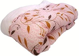NaturalHouse 日本製 肌 掛け 布団 135 x 185 シングル 表 エンボス 裏 ル クール 素材 中 わた ポリエステル ( 吸水 速乾 肌布団 ) ピンク