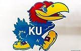 Fremont Die Kansas Jayhawks Reusable Jumbo Cling Auto Home Window Static Decal University of