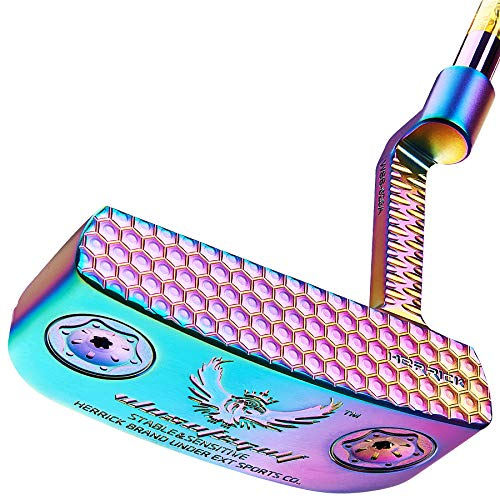 Golf Putter Men's Right Hand Club Black Red Head Covers Grips CNC Steel Mallet Professional